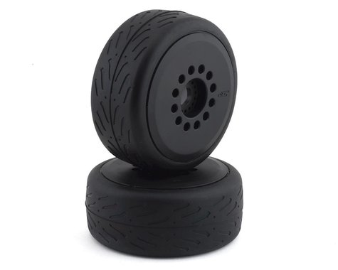 JConcepts Speed Fangs Belted Tire Pre-Mounted w/Cheetah Speed-Run Wheel (Black)