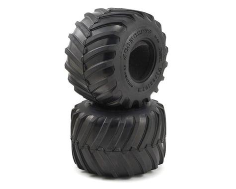 """JConcepts 2.6"""" Firestorm Monster Truck Tires (2) (Gold)"""