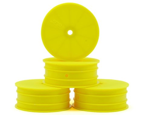 JConcepts 12mm Hex Mono 2.2 Hex Front Wheels (4) (TLR 22 5.0) (Yellow)