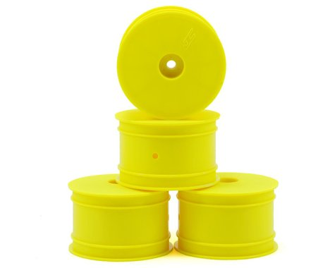 JConcepts 12mm Hex Mono 2.2 Hex Rear Wheels (4) (TLR 22 5.0) (Yellow)
