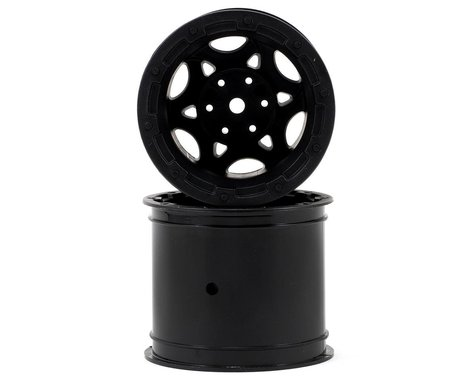 "JConcepts 12mm Hex Tense 2.2"" Stampede/Rustler Electric Front Wheel (2) (Black)"