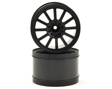 "JConcepts 12mm Hex Rulux 2.8"" Rear Wheel (2) (Black)"