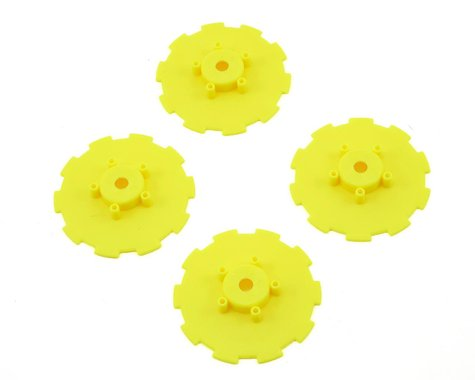 JConcepts Hazard Wheel Dish (Yellow) (4) (SC5M)