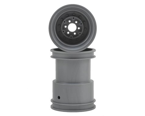 "JConcepts Tribute 2.6x3.6"" Monster Truck Wheel (Silver) (2)"