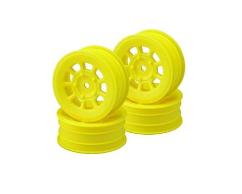JConcepts 9 Shot 2.2 Dirt Oval Front Wheels (Yellow) (4) (B6.1/XB2/RB7/YZ2)