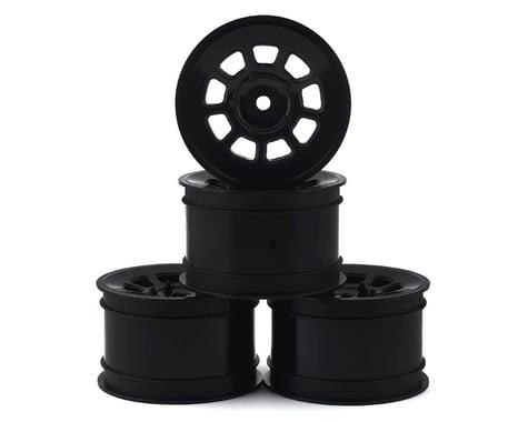 JConcepts 9 Shot 2.2 Dirt Oval Rear Wheels (Black) (4) (B6.1/XB2/RB7/YZ2)