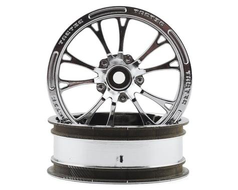 "JConcepts Tactic Street Eliminator 2.2"" Front Drag Racing Wheels (2) (Chrome)"