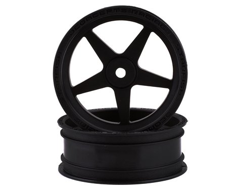 "JConcepts Starfish Street Eliminator 2.2"" Front Drag Racing Wheels (Black) (2)"