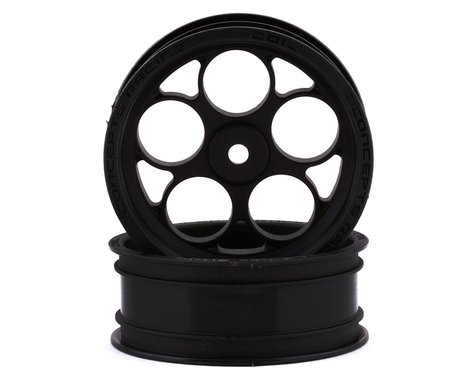 "JConcepts Coil Street Eliminator 2.2"" Front Drag Racing Wheels (Black) (2)"