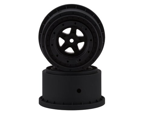 JConcepts Starfish Mambo Beadlock Street Eliminator Rear Drag Wheels (Black) (2)