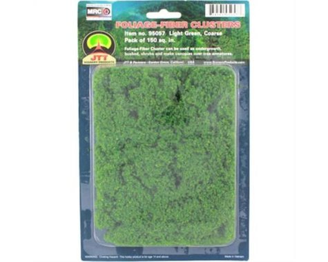 JTT Scenery Coarse Foliage-Fiber Cluster, Medium Green