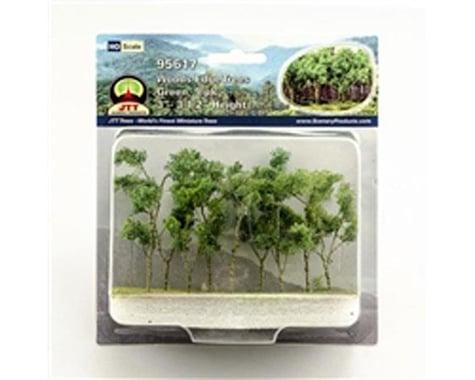 "JTT Scenery Woods Edge Trees, Green 3-3.5"" (9)"