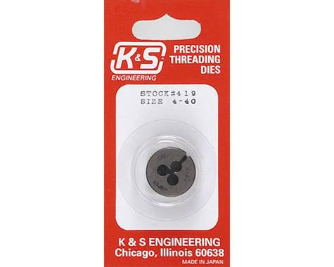 K&S Engineering Threading Die,4-40