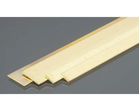 K&S Engineering Brass Strips, .032 x 1/4 &1/2 Bend (4)