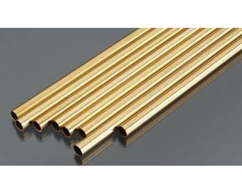 """K&S Engineering Round Brass Tube 21/32"""", Carded"""