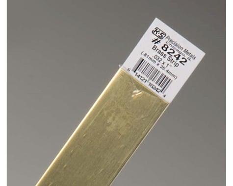 "K&S Engineering Brass Strips 12"", .032 X 1"", Carded"