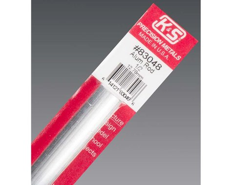 """K&S Engineering Solid Aluminum Rod 1/2"""", Carded"""