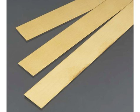 K&S Engineering Brass Strip,  .5 mm  x 18 mm  (3)