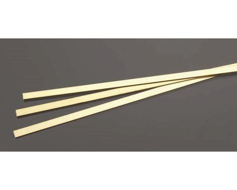 K&S Engineering Brass Strip,  1 mm  x 6 mm  (3)