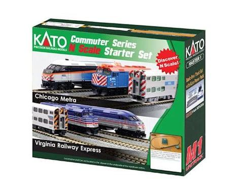 Kato N F40PH Commuter Starter Set, Metra