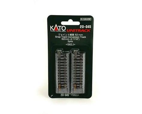 "Kato N 62mm 2-7/16"" Straight Conversion, Atlas Snap"