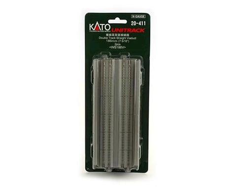 "Kato N 186mm 7-5/16"" Straight Dbl Viaduct, Concrete (2)"
