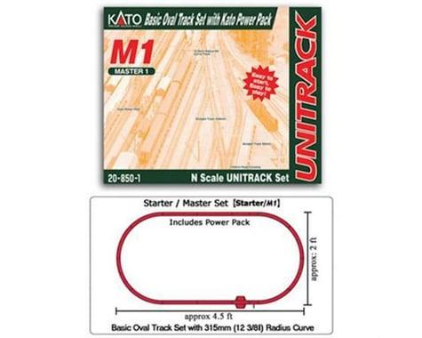 Kato N M1 Basic Oval Track Set w/Power Pack
