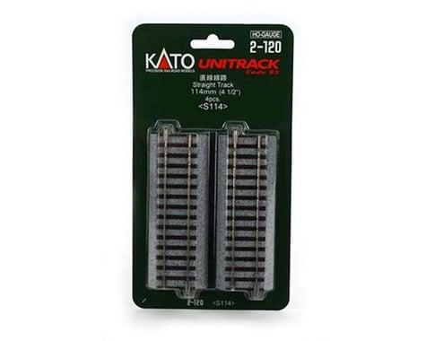 "Kato HO 114mm 4-1/2"" Straight (4)"