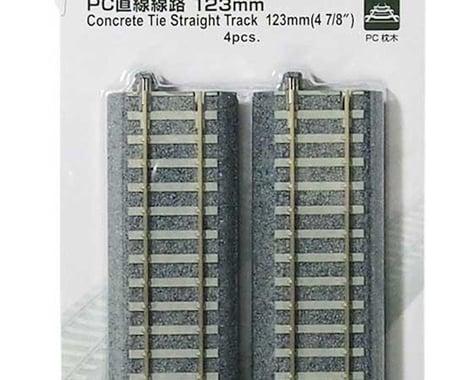 "Kato HO 123mm 4-7/8"" Track Straight, Concrete Ties (4)"