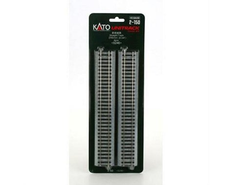 "Kato HO 246mm 9-3/4"" Straight (4)"