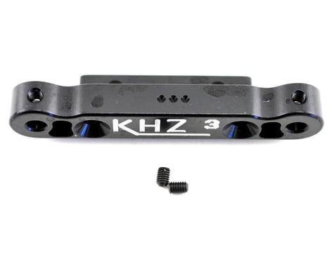 King Headz Kyosho MP777 Rear Toe-In Plate (3 degree) - Black