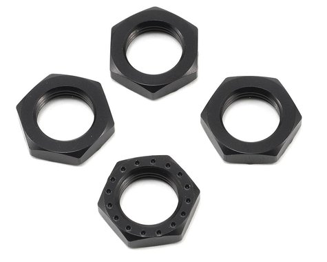 King Headz 17mm Fine Thread Wheel Nut (Black) (4)