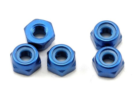 Kyosho 3x3.3mm Aluminum Nylon Nut (Blue) (5)