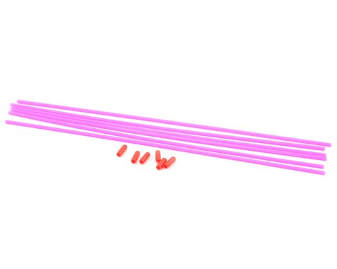 Kyosho Color Antenna Tubes & Caps (Fluorescent Pink) (6)
