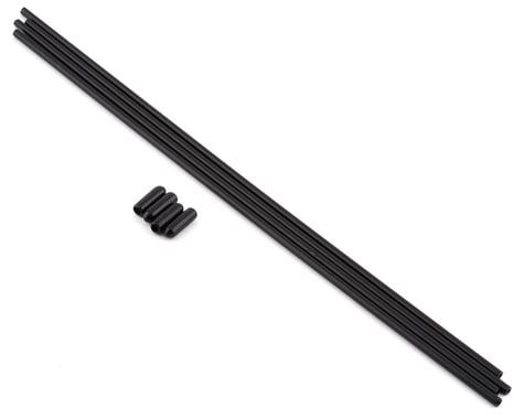 Kyosho Antenna Tubes & Antenna Caps (Black) (4)