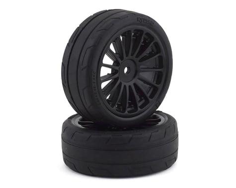 Kyosho Fazer Pre-Mounted Sedan Tires w/15 Spoke Wheels (2) (Black)