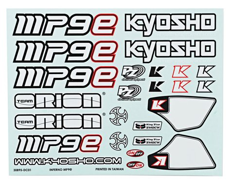 Kyosho MP9e Decal Set