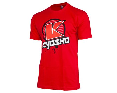 "Kyosho ""K Circle"" Short Sleeve T-Shirt (Red) (L)"