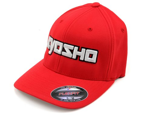 "Kyosho ""3D"" Flexfit Hat (Red) (S/M)"