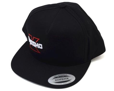 Kyosho Snap Back Flat Bill Hat (Black) (One Size Fits Most)