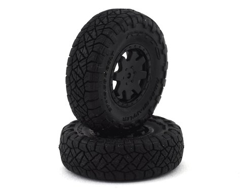 Kyosho MX-01 Toyota 4Runner Pre-Mounted Tire & Wheels w/Weight (2)