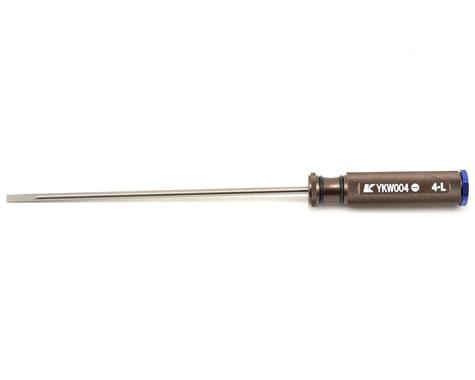 "Kyosho Kanai Tools ""Long"" Flat Head Engine Tuning Screwdriver (4mm)"