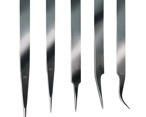 Latina Stainless Steel Extra Fine Tweezer Set (5)