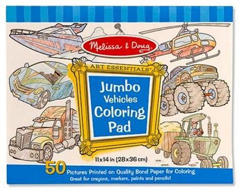 Melissa & Doug  Jumbo Coloring Pad, Vehicles