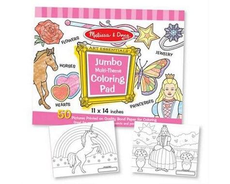 "Melissa & Doug  Jumbo Coloring Pad - Pink 11X14"""