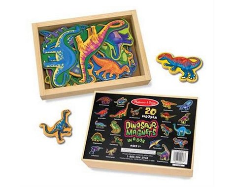 Melissa & Doug  Wooden Dinosaur Magnets In A Box
