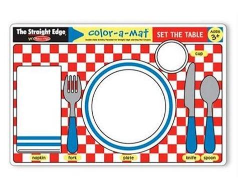 Melissa & Doug  Set The Table Color-A-Mat