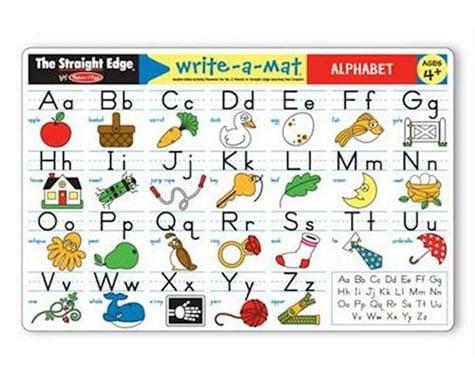 Melissa & Doug  Alphabet Write-A-Mat
