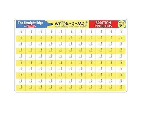 Melissa & Doug  Addition Problems Write-A-Mat