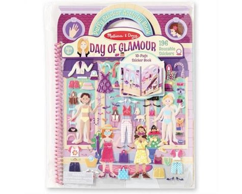 Melissa & Doug Reusblpuffystickers Dlx Day Of Glam